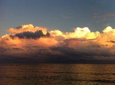 beautiful sky reflecting in the ocean