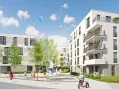 Das Neubauprojekt in der Seestraße 80 verfügt über 56 Eigentumswohnungen in Leonberg. Ein Projekt von Wüstenrot.