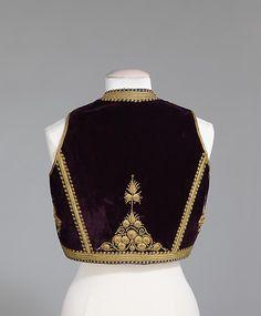 Albanian Vest.  ca. 1880-1900.  Brooklyn Museum Costume Collection at The Metropolitan Museum of Art (via metmuseum.org)