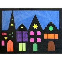 Schönes Weihnachtsdorf lässt dein Fenster hell erleuchten. Material und Anleitung gibt es auf www.prell-versand.de.