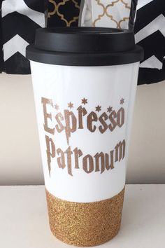 Espresso Patronum Harry Potter travel mug