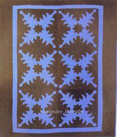 Applique Quilt Stars & Leaves Amish Ohio 1920