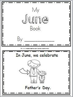"Free June Mini Book for Kindergarten or preschool reading. Practice reading high frequency words including ""can, have"" in this book. There are 10 pages in this mini book. You can print and use all the pages or just the ones that you prefer to use. The final two pages are blank to allow students to …"