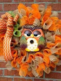 Fall Owl Burlap Wreath...cute...cute...cute!!