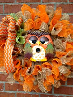 Fall Owl Burlap Wreath...cute...cute...cute!!