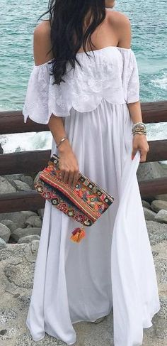 Off shoulder maxi by cathryn