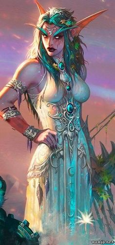 Tyrande Whisperwind - World of Warcraft game art - Wedding dress idea