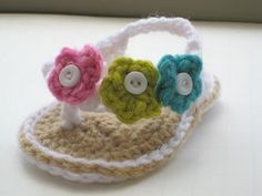 Crochet Flip Flops for babies http://pinterest.net-pin.info/