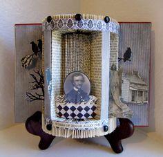 Altered Book The Works of Edgar Allen Poe by Raidersofthelostart