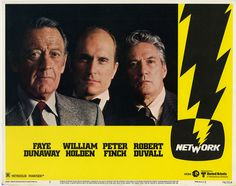 For sale network 1976 original theatrical movie lobby cards mgm united artists william holden peter finch faye dunaway robert duvall ned beatty beatrice straight sidney lumet academy award paddy chayefsky oscar film memorabilia emorys memories. Paddy Chayefsky, New Beverly Cinema, Oscar Films, Peter Finch, Best Actress Award, Robert Duvall, Academy Award Winners, Oscar Winners, Faye Dunaway