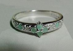 vintage emerald engagement ring. I'm in love