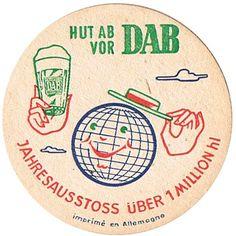 Vintage Graphic Design, Vintage Type, Vintage Prints, Vintage Designs, Sous Bock, Coaster Art, Beer Mats, Beer Coasters, Beer Packaging