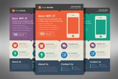 Flat Design Flyer Template by Creativenauts on Creative Market
