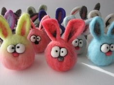 Custom Needle Felted Micro Easter or Anytime Bunny by KooWooL, $15.00