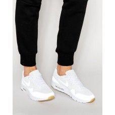 Vita Rabatt Nike Air Max Order Nike Air Max 1 Ultra Moire All White Sneaker All White Sneakers Nike Air Max Air Max 1