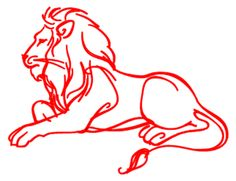 Welcome: Art Line Drawing ~ Lion