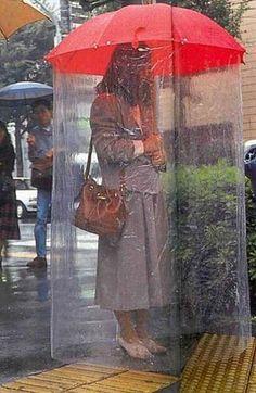 Umbrella w shower curtain!