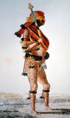 ИНДЕЙЦЫ АМАЗОНИИ: Музей антропологии МГУ (Россия, Москва): головной убор мундуруку