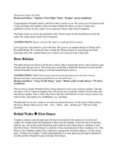 ding Reception Program Emcee Script We found out from our website statistics that many are searching for wedding reception programmes so we are putting this up… Master Of Ceremonies Wedding, Wedding Reception, Eragon Movie, Dove Release, Matron Of Honour, Unity Candle, Best Day Ever, Newlyweds, Mj