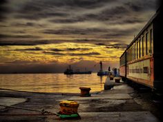 Port of Thessaloniki. Thessaloniki, Most Beautiful Cities, Places To Travel, Greece, Sunset, City, Israel, Outdoor, Spaces