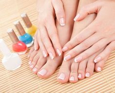 Mani/Pedi, No-Chip Manicure, or Haircut Color No Chip Manicure, Mani Pedi, Colored French Tips, Hair Wigs For Men, Different Dress Styles, Diy Pedicure, Feet Nails, Haircut And Color, Nail Polish Colors