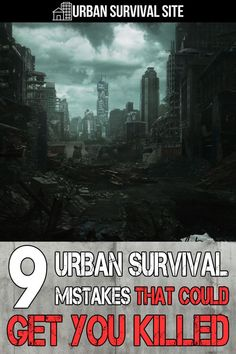 If you want to survive when the next disaster strikes your city, you need to avoid these urban survival mistakes. Any of these could get you killed. Kids Survival Skills, Survival List, Survival Weapons, Survival Shelter, Survival Prepping, Survival Hacks, Survival Quotes, Central Park Manhattan, How To Disappear