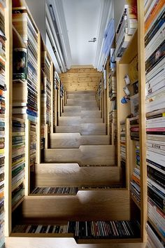 Bookcase Staircase by Levitate Architects | Design Scene - Fashion, Photography, Style