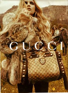gucci. Her jacket is fabulous