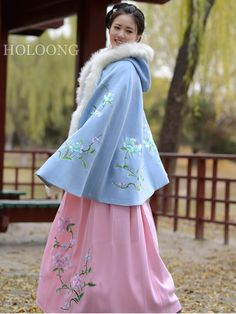 Spring New style Hanfu clothing Custom Women Embroidery Clothing