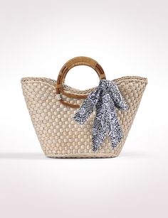 Basketweave Tote With Bow  #thinkspring