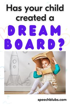 Dream boards are designed as a source of inspiration and motivation and can be a really powerful tool for both adults and children alike. They can help work on language, vocabulary, and critical thinking skills without being boring! Coping Skills, Life Skills, Speech Delay, Dream Boards, 100 Fun, Images And Words, Critical Thinking Skills, Fun Activities For Kids, Fun Learning