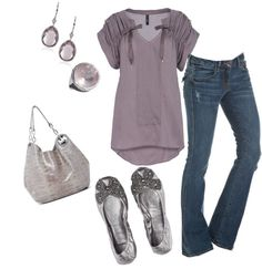 """""""Purple and Silver"""" by mmessenger on Polyvore"""