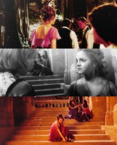 """she is fourteen and she knows. she feels it deep inside her and she KNOWS. but that's Hermione, isn't it? to perceive clearly that which others overlook, to always be ahead of the curve and smiling at those behind her. but nobody wants this -- nobody wants to be sitting alone on the steps, waiting for everyone else. nobody wants to be first in love. and it's just, it's -- she did her hair. and she bought a dress and she had a good time and she tried to ignore looking at him out of the…"
