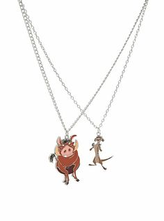 Disney The Lion King Timon & Pumbaa BFF Necklace 2 Pack | Hot Topic @Deborah Tragasz & I need these !!