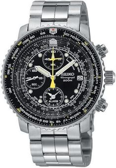 Seiko Men's SNA411 Flight Alarm Chronograph Watch: http://suliaszone.com/seiko-mens-sna411-flight-alarm-chronograph-watch/