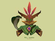 Mal'damba (Paladins) Vector by Isahyun
