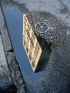 New York City Reflections** is this saying that new york is not clean like a sewer? New York Photography, Hobby Photography, Artistic Photography, Color Photography, Street Photography, A New York Minute, New York City Photos, Reflection Photography, I Love Nyc