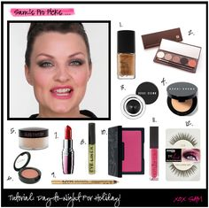 Get the tip, tricks and makeup picks for how to amplify your basic office makeup with gold glitter, deeper eye makeup, and lips that pop.