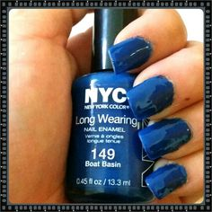 Color swatch 2 coats of New York Color #149 boat basin