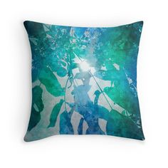"""""""Rustling Blue"""" Throw Pillows by angelo cerantola 