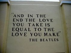 This has always been my favorite Beatles lyric.