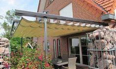 Baldachin, ausfahrbar, vom Fenster- Rollladen- und Sonnenschutz- Fachbetrieb Mester aus Bielefeld, für OWL und Umgebung.