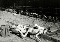In this picture it shows two jewish men that starved to death in German concentration camps. :)