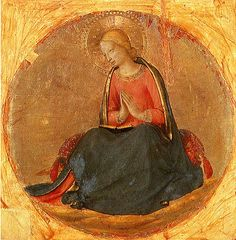 Fra Angelico, Perugia Triptych: Virgin Annunciate. 1447. Panel from the right section of the Perugia Altarpiece.