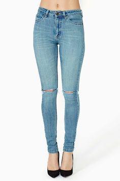 jeans + roto rodilla