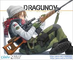 Slav sniper anime girl