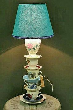 3 Quirky Lamps To Try At Home, You are able to enjoy break fast or various time times using tea cups. Tea cups also have decorative features. When you consider the tea cup types, you might find this clearly. Upcycled Home Decor, Repurposed, Diy Home Decor, Tea Cup Lamp, Decoration Shabby, Teacup Crafts, Deco Luminaire, Lamp Shades, Diy Furniture