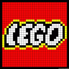 Lego logo perler bead pattern - Crochet / knit / stitch charts and graphs - Crochet ideas - Hama Beads Design, Hama Beads Patterns, Beading Patterns, Crochet Patterns, Crochet Ideas, Cross Stitching, Cross Stitch Embroidery, Cross Stitch Patterns, Lego Logo