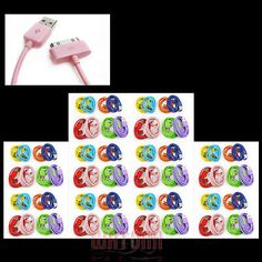 80X 3FT USB SYNC DATA POWER CHARGER CABLE IPHONE 4S IPOD TOUCH CLASSIC NANO IPAD