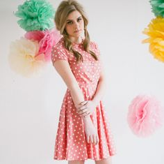 Folksy  Pink Spotty Dress made by Plum and Pigeon